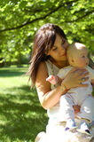 Moeder en baby #13 Stock Afbeeldingen