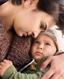 Moeder en baby Royalty-vrije Stock Afbeelding