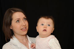 Moeder en baby Royalty-vrije Stock Foto