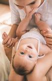 Moeder en Baby Stock Foto