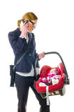 Moeder en babyzetel Stock Foto's