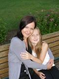 Moeder en daugther Stock Foto's
