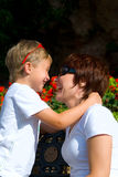 Moeder en de zoon Royalty-vrije Stock Foto's