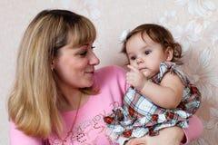 Moeder en dochter. Stock Foto