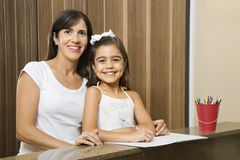 Moeder en dochter. stock fotografie
