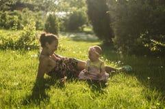 Moeder en Dochter II Stock Afbeelding