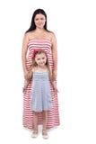 Moeder en dochter in sundresses Stock Afbeelding
