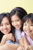 Moeder en dochters stock foto