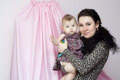 Moeder en doughter portret Stock Foto's