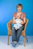 Moeder en haar baby Stock Foto