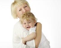 Moeder en haar baby royalty-vrije stock foto's