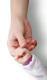 Moeder en haar kind hand in hand Royalty-vrije Stock Foto