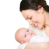 Moeder en haar pasgeboren baby royalty-vrije stock fotografie