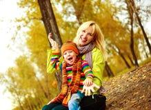 Moeder en haar zoon Stock Foto