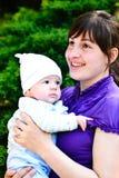 Moeder en haar zoon royalty-vrije stock fotografie