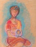 Moeder en het kind Royalty-vrije Stock Foto's