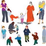 Moeder en kind royalty-vrije illustratie