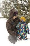 Moeder en kind Royalty-vrije Stock Afbeelding