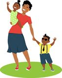 Moeder en kinderen stock illustratie