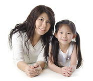 Moeder en me royalty-vrije stock afbeelding
