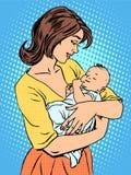 Moeder en pasgeboren baby stock illustratie