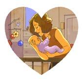Moeder en peuter Royalty-vrije Stock Fotografie