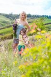 Moeder en twee dochters royalty-vrije stock fotografie