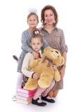 Moeder en twee dochters royalty-vrije stock afbeeldingen
