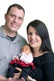 Moeder en Vader met Hun Baby Royalty-vrije Stock Foto's