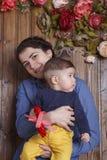 Moeder en weinig zoon Royalty-vrije Stock Afbeelding