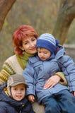 Moeder en zonen royalty-vrije stock foto