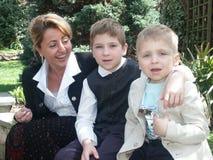 Moeder en zonen Royalty-vrije Stock Foto's