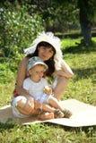 Moeder en zoon Stock Fotografie