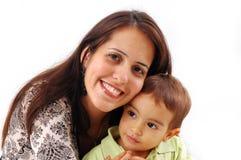 Moeder en Zoon Royalty-vrije Stock Foto
