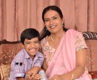 Moeder en zoon stock foto's