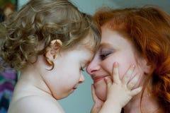 Moeder en zoon. Royalty-vrije Stock Fotografie