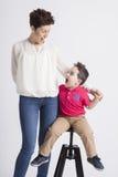 Moeder en zoon Royalty-vrije Stock Afbeelding