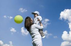 Moeder en zoon. Stock Foto