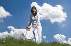 Moeder en zoon. Stock Foto's