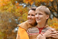 moeder en zoon Royalty-vrije Stock Foto's