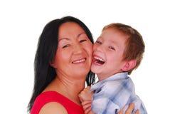 Moeder en Zoon Vijftien Stock Afbeelding