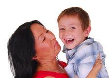 Moeder en Zoon Zeventien Royalty-vrije Stock Fotografie