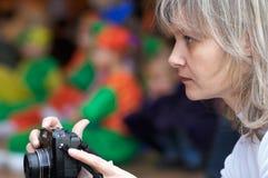 Moeder - fotograaf stock foto's