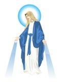 Moeder Mary stock illustratie