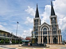 Moeder Mary Church, Chanthaburi Thailand Royalty-vrije Stock Foto's
