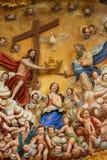 Moeder Mary en de Heilige Drievuldigheid Royalty-vrije Stock Afbeeldingen