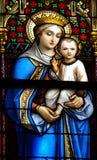 Moeder Mary en Jesus Royalty-vrije Stock Fotografie