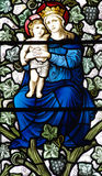 Moeder Mary met Jesus in haar wapens royalty-vrije stock foto's