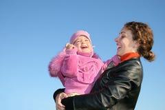 Moeder met baby Royalty-vrije Stock Foto's