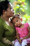 Moeder met baby Stock Foto